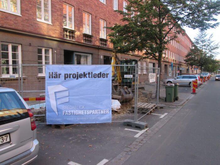 Dränering av Bf Andréelunds grund. Projektet utförde enligt Isodrän-metoden.